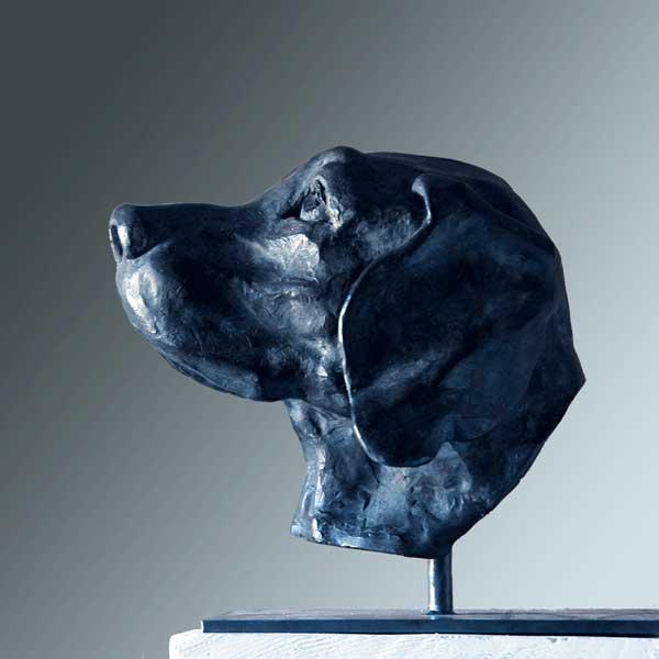 polychrome terracotta, elizabeth-patrick-dog-side-vancouver-sculpture-studio