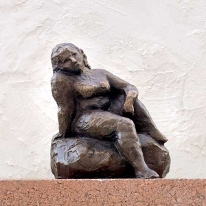 figurative sculpture, small bronze female nude