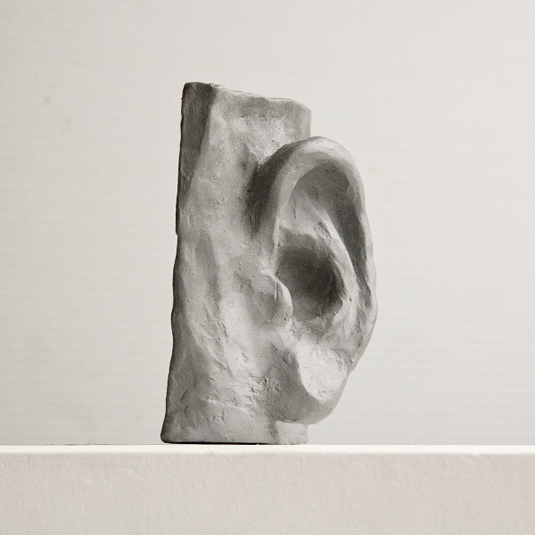 "Ear sculpture, Student work from the Vancouver Sculpture Studio ""Introduction to Sculpting the Face"" class"